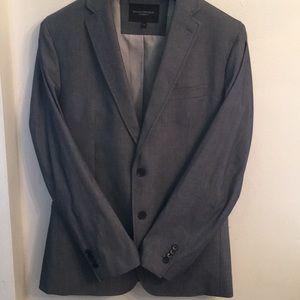 🦊 Banana Republic blue cotton lined blazer NWOT